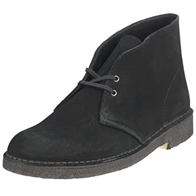 Clarks Originals Men's Desert Boot, Black Suede, 6 M