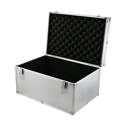 Cases and Enclosures Caisse de transport en aluminium avec séparateur interne pour outils et équipement DJ Argenté 450 x 310 x 240 mm