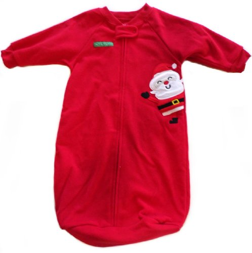 Carter'S My First Christmas Sleeper Fleece Size 0-9 Months Red front-145730