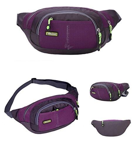 Iuhan® Fashion New Running Bum Bag Travel Handy Hiking Sport Fanny Pack Waist Belt Zip Pouch (Purple)