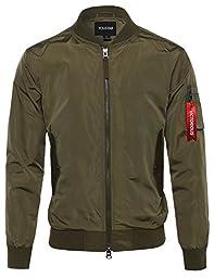 Classic Bomber Jacket Olive Size L