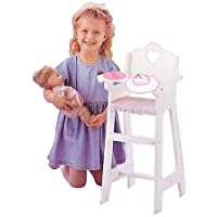 "Badger Basket Doll High Chair With Feeding Accessories Fits Most 18"" Dolls & My Life As"