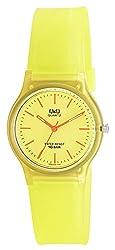 Q&Q Analog Yellow Dial Unisex Watch - VP46J033Y