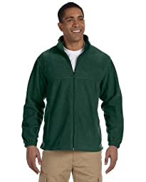 Harriton Men\'s 8 oz. Full-Zip Fleece, Hunter, 3XL
