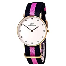 buy Daniel Wellington Women'S 0952Dw Classy Winchester Rose Gold-Tone Watch With Pink And Navy Band