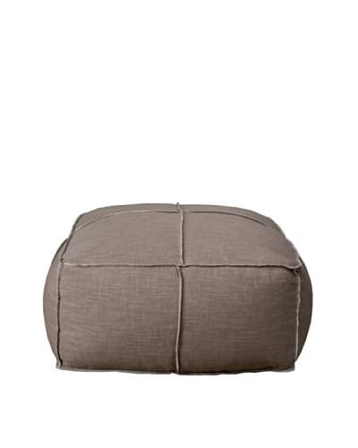 Orient Express Tucker Square Poof Cushion, Barley