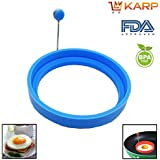 KARP™ Set Of 2 Round Shape Silicone Fried Egg Mold Pancake Rings, Non Stick Bakeware Accessories Kitchen Tools...