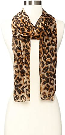 Echo Design Women's Cheetah Scarf, Brown, One Size