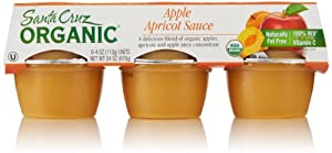 Santa Cruz Organic Apple-Apricot Sauce (6 Count, 4 Oz Each)