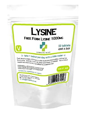 Lysine 1000mg /50 Tablets