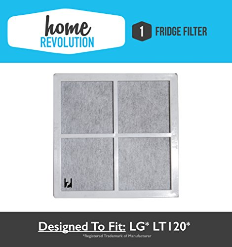 1 LG LT120F Home Revolution Brand Air Purifying Fridge Filter Replacement Made To Fit LG LT120F; Compare to Part # ADQ73334008 & ADQ73214404