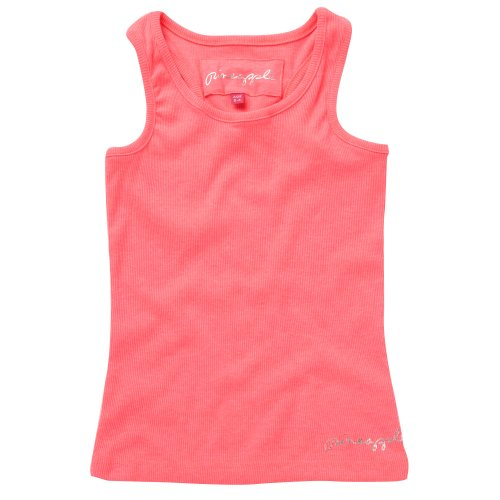 Pineapple Girl's Neon Pink Ribbed Vest