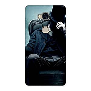 Special Sitting Hat Man Back Case Cover for Huawei Honor 5X