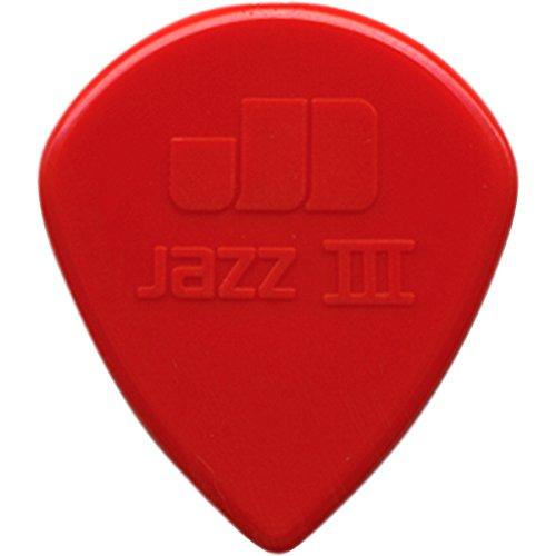 Dunlop 47P3N Nylon Jazz III Red Point Tip Guitar Picks 6-Pac