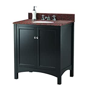 Foremost Treatc3122 Haven 31 Inch Width X 22 Inch Depth Vanity With Granite Top Terra Cotta