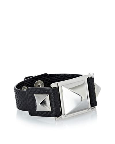 Vince Camuto Black Leather Pyramid Bracelet