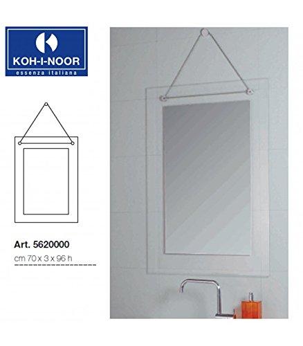 Koh-I-Noor 5620000 Specchio Catena e Cornice Satinata 70 x 96, Cromo