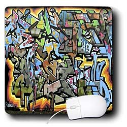 Spiritual Awakenings Graffiti Art - Graffiti wall art lettering - Mouse Pads