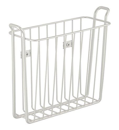 Wall Mount Rack Magazine Newspaper Steel Bathroom Toilet Basket Storage White Ebay