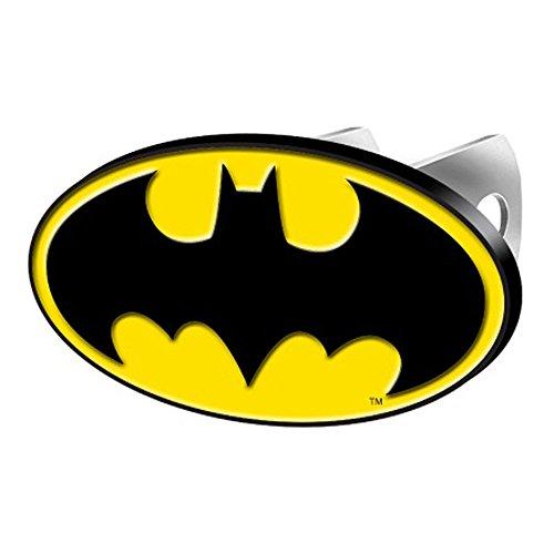 Batman Colored Bat Logo DC Comics Cartoon Movie Character Superhero Solid Metal Hitch Plug Receiver Cover (Dc Plug Cover compare prices)