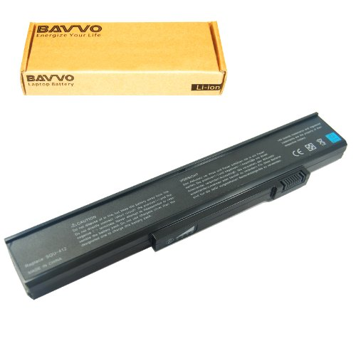 Bavvo 6-chamber Laptop Battery for Gateway M465-E ML3109 ML6714 MP6925J MT3422 MX3414 MX6128 MX6216 MX6420, 11.1V