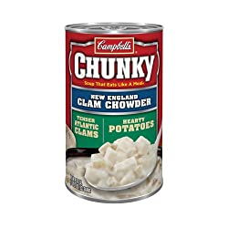 Campbells Chunky New England Clam Chowder, 10.75-Ounce Cans (Pack of 12)