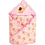 Mee Mee MM-98023E Baby Warm Wrapper Cum Blanket With Hood (Pink)