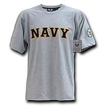 Rapiddominance Applique Text Tee, Navy/Grey, X-Large