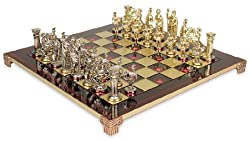 Greek & Roman Chess Set Package - Red