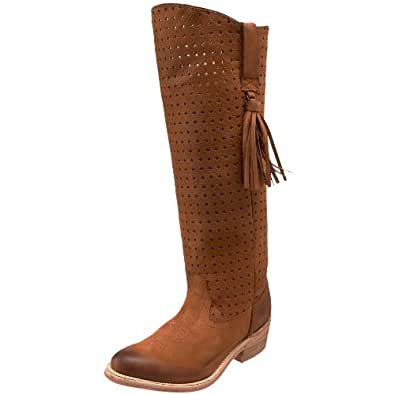 miss sixty s pancho knee high boot brown