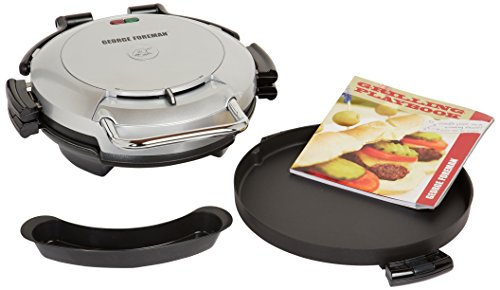 George Foreman GRP0720PQ 360 Grill with 2-Removable Grill Plates, Bake Pan and Cookbook, Plantium (Foreman 360 Grill compare prices)
