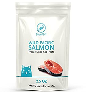 Wild Pacific Freeze Dried Salmon Cat & Dog Treats 2.5oz by TickledPet (2.5oz/1-Pack)