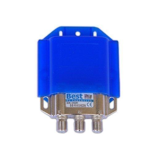 Best DiSEqC Switch 2/1 Hi Isolation avec Boîtieur Protégé du Temps