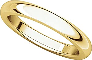 14ct Yellow Gold, Heavy Comfort Fit Wedding Band 3MM (sz Z+2)