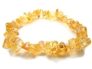 Citrine Irregular Shape Natural Crystal Bead Bracelet