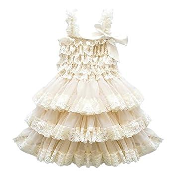CVERRE lace flower rustic Burlap girl baby country wedding dress
