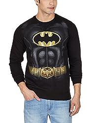 Batman Men's Fleece Sweatshirt (8903346476343_BM1DSM948_Large_Black)