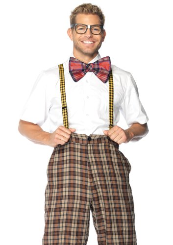 Leg Avenue 3 Piece Nerd Kit Includes Suspenders With Bow And With Glasses