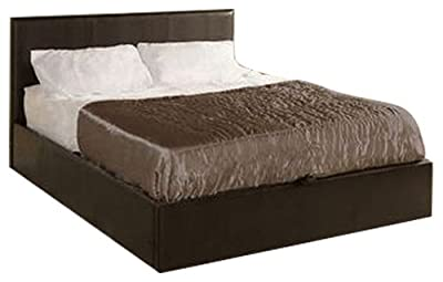 bedsandbeds limited, Dark Brown 4ft6, Ottoman Double Storage Bed Faux Leather