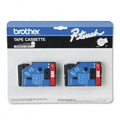2-pack 1 2in Red On White Pt-6-25 150 170B000067SG0 : image
