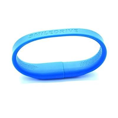 Smiledrive 32GB SUPERFAST USB 3.0 WRISTBAND PEN DRIVE-WEARABLE PENDRVIE (BLUE)