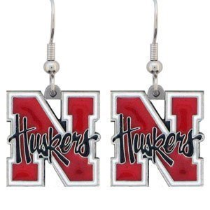 Nebraska Cornhuskers Dangle Earrings - NCAA College Athletics Fan Shop Sports Team Merchandise