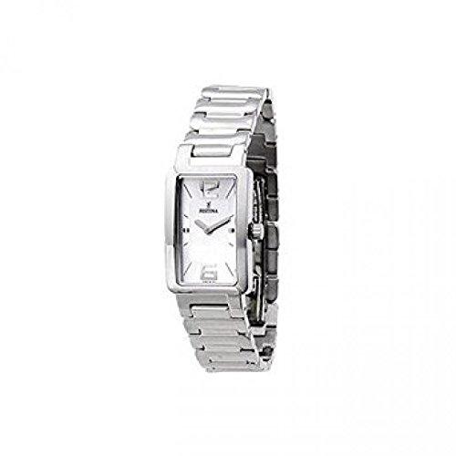 Festina F16216/5 - Reloj de mujer de cuarzo, en acero, esfera color plata.
