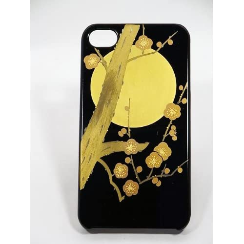Amazon.com: Maki-e iPhone 4/4S Cover Case Made in Japan - Tsuki ni Ume (The Plum and the Moon): Cell Phones & Accessories