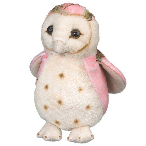 Pink Owl Toy Bird Plush Stuffed Animal 6 Inch Camo Wild Wildlife Artists front-890726