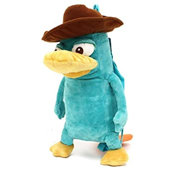 Phineas and Ferb Perry the Platypus 16 Plush Backpack