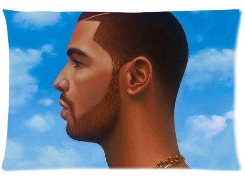 "Cartrol Cotton & Polyester Custom Pillowcase- Canadian Recording Artist , Rapper Drake Zippered Pillow Case Covers Standard Size 20""X30"" (One Side) front-610677"