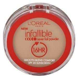 L'Oreal Paris Infallible Never Fail Powder, Creamy Natural, 0.30 Ounce