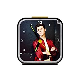 Shawn Mendes Custom Square Black Alarm Clock As A Nice Gift Black 3.27Inch