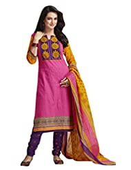 AASRI Pure Cotton 3 Piece Unstitched Salwar Suit - B0143071AY